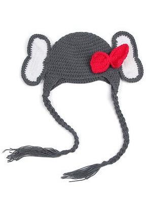 Вязанные шапки на завязках