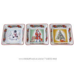 Aynsley подарочный набор рождественской посуды. фарфор.
