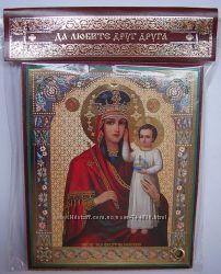 Чудотворная икона Божией Матери Призри на смирение 10х12 см Освящена Новая