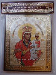 Икона Божией Матери Споручница Грешных с капсулой 10х12 см Освящена