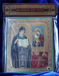 Икона с капсулой Св Преподобный Иов 10х12 см Освящена Новая Уникальна