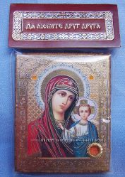 Казанская икона Божией Матери с капсулой 4х5 см. Освящена, новая