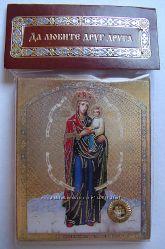 Икона Божией Матери Споручница Грешных с Капсулой 4х5 см Освящена, новая