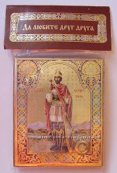 Икона с капсулой покровитель имени Иван Св ИОАНН Воин Освящена, Новая