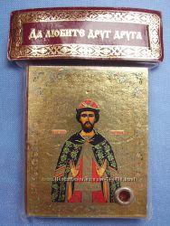 Икона с капсулой покровитель имен Святой Святослав Освящена, Новая