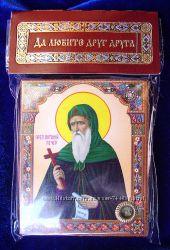 Икона с капсулой покровитель имени Антон Св Антоний. Оберег, Новая