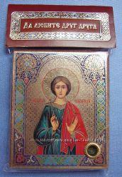 Икона с капсулой покровитель имени Денис Св Дионисий Освящена, Новая