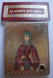 Икона с капсулой покровительница имени Святая Евдокия Освящена, новая