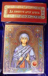 Икона с капасулой покровительница имени Алла Освящена, Новая
