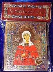 Икона с капсулой покровительница имени Св Антонина Освящена, новая