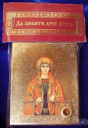 Икона с капсулой покровительница имен Святая София Освящена, Новая