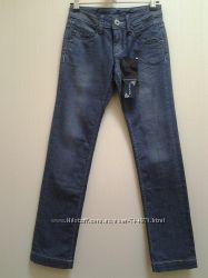 Стильные серые джинсы с широким подворотом по низу, Fan&Fan Итлия р. 36