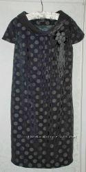 Стильное  платье от Favori серое в горошек