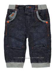 Теплые джинсики  на трикотажной подкладочке на мальчика 0-3 мес