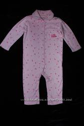 Фирменный качественный человечек пижамка Nutmeg на девочку 6-9 мес