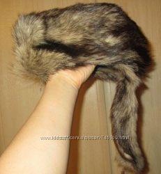 Шапка натуральный мех. Перчатки . Шарфы, шапки. Кожа, ткань