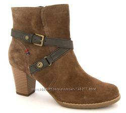 фирменные демисезонные ботинки Tom Tailor натуральный замш , размер 41