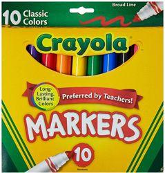Markers Crayola 10. Маркеры