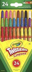 Мини-мелки Twistables, нетоксичные набор из 24 шт. Краски Crayola 18 цветов