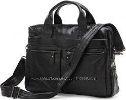 Шикарная кожаная мужская сумка - портфель. Лидер продаж. Скидка