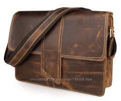 Шикарная сумка на плечо из прочной лошадиной кожи. Отличное качество