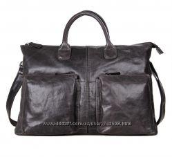 Шикарный мужские вместительные сумки. Серый и коричневый цвета