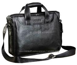 Кожаные мужские портфели черного и коричневого цветов. Лидер продаж.