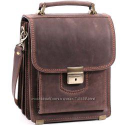 Удобные кожаные мужские сумки на плечо и в руку. Большой выбор цвета и кожи