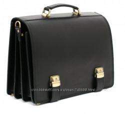 Шикарные кожаные мужские портфели на 2 защелки. Удобный и стильный
