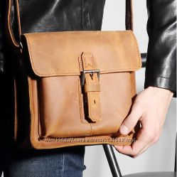 Шикарные мужские сумки на плечо и портфели из лошадиной кожи.