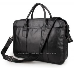 Кожаные мужские повседневные сумки - портфели. Телячья мягкая кожа
