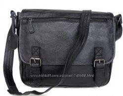 Модная и вместительная кожаная сумка на плечо. Hand Made