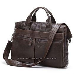 Кожаная мужская сумка - портфель. Идеальное качество итальянской кожи.