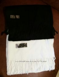 Классные мягкие шарфики из Италии белые и черные