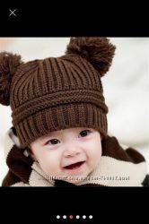 детская шапка на 6-18 мес