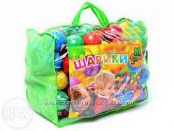 Шарики мягкие 80 мм 60 мм для сухого бассейна 100 шт в сумке Недорого Налич
