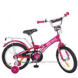 Велосипед 2-х колес. PROF1 16 дюймов, Original girl, малиновый, звонок, доп