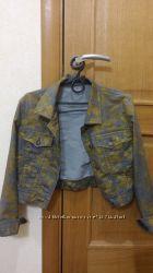 Джинсовая укороченная курточка