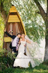 Счастливое свадебное платье жемчужного цвета
