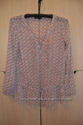 длиная блузка в цветочек