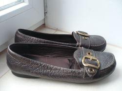 Кожаные туфли-мокасины GEOX р. 39