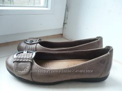 Кожаные туфельки Tamaris 36 разм. - идеал. сост.