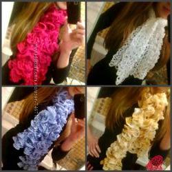 шарфы ручная робота красивые