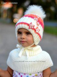 Букет. Зимняя новая шапка для девочек.