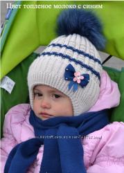 Мальвина. Зимняя новая шапка для девочек.