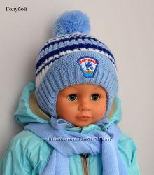 Хоккей. Зимняя новая шапка для мальчиков.