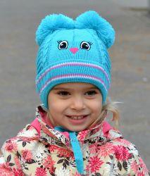 Птичка. Весенне-осенняя новая шапка для девочек.