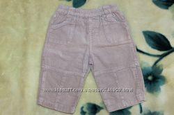 Вельветовые штанишки, штаны, брюки ТМ BHS Bambini, р. 3-6 мес. р. 68 см, бе