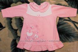 Велюровое платье ТМ Бемби, р. 74, розовое, в идеальном состоянии