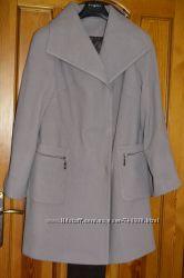 Лавандовое пальто как у блогеров свободный крой